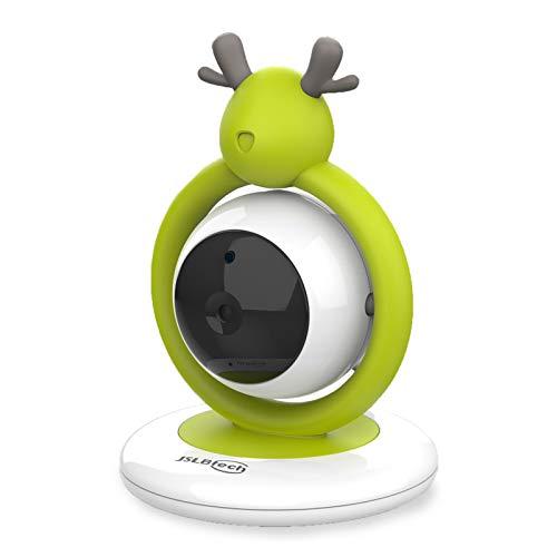 JSLBtech Vigilabebés Inalambrico Con Cámara, Monitor De Bebé Visión Nocturna Pantalla LCD De 4.3\