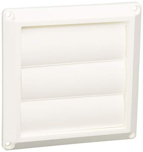 Lambro 1475W White Plastic Louvered Vent, 3-Inch