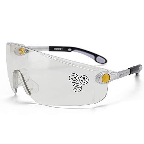 保護メガネ 保護めがね 可動式ソフト鼻パッド 防衝撃 防塵 防風 UVカット 回転と調整のできる鏡脚 実験室 自転車に乗る