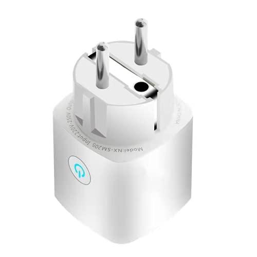 SKTE Enchufe Inteligente 16A Enchufe Inteligente Inalámbrico WiFi Mini Enchufe WiFi para Casa Inteligente con Control Remoto Y Funciones de Control de Voz Se Puede Utilizar con Alexa
