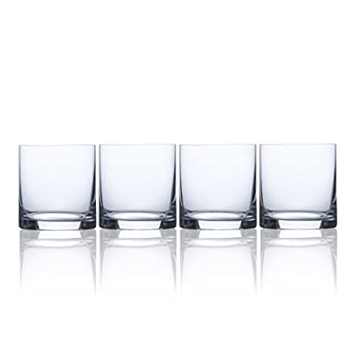 Mikasa 5193457, 15 oz, Clear Julie Double Old Fashioned Drinking Glass, 15-Ounce, Set Of 4