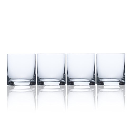 Mikasa Laura Double Old Fashioned, 13.5-Ounce, Set of 4, Old Fashioned Glass