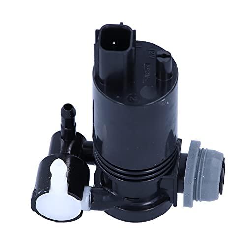 Bomba de lavado de parabrisas, motor de bomba de lavado de parabrisas delantero, 2 salidas, herramienta de limpieza de ventanas de coche, bomba de líquido de lavado 1231600, compatible con For