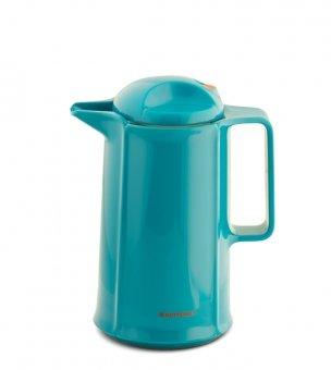 ROTPUNKT Isolierkanne 460 Marlis 0,6 l Zweifunktions-Drehverschluss   BPA Frei- gesundes Trinken   Made in Germany   Warm + Kalthaltung   Glaseinsatz   Vivid Petrol