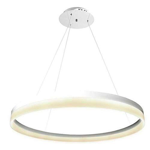 Luminaria colgante RING 73W, Ø100cm, Blanco cálido