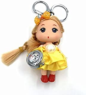Skyllc® 38 x85mm Small Cute and Beautiful Doll with a Watch Pendant for Car Key Ring Handbag Tote Bag Pendant Charm Gift