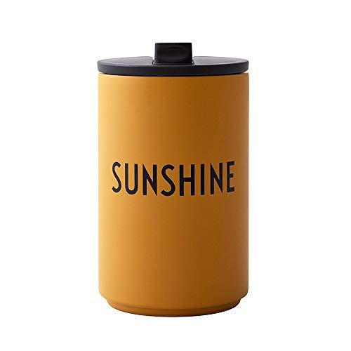 Design Letters Trinkbecher/Isolier Becher Sunshine (Senffarben) 350 ml