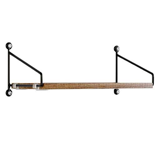 WWZWJ Zwevende plank IJzeren wandplank Scandinavische minimalistische stijl Muur decoratieve scheidingsplank Geschikt voor slaapkamer/woonkamer/TV achtergrond muur