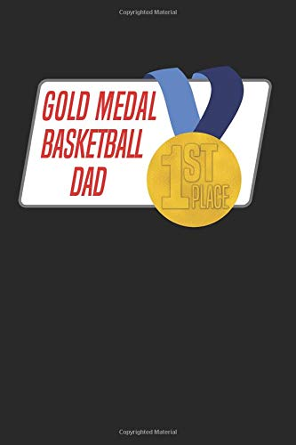 Gold Medal Basketball Dad: Blank Lined Journal