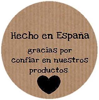 Etiquetas adhesivas kraft Hecho en España, gracias por confiar (200 uds)…: Amazon.es: Hogar