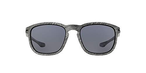 Oakley 0Oo Enduro 922321 55 Occhiali da Sole, Bianco (Fingerprint White/Grey), Uomo