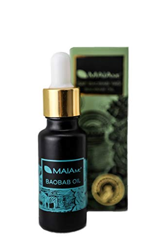 Baobaböl 100% rein von MAIA MC - Glasflasche - OHNE Duftstoffe - Hoher Anteil an Vitamin C und B - Für Gesicht und Haare - kaltgepresst-hautpflegend-entzündungshemmend-hautstraffend-bio oil - 20 ml