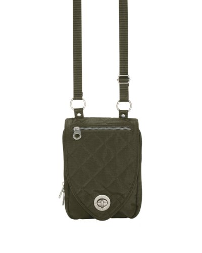 Baggallini Luggage Geneva Quilted Cross-Body Bag, Dark Olive, One Size
