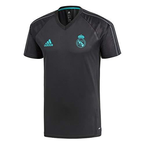 adidas TRG JSY Camiseta de Equipación Real Madrid, Hombre, Negro, XS