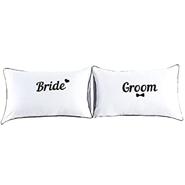 Couples Pillowcases-Valentines Day Gifts for Girlfriend Boyfriend,Cute Valentines Day Gifts, Wedding Gift Anniversary Gift,19x29Inch (5)