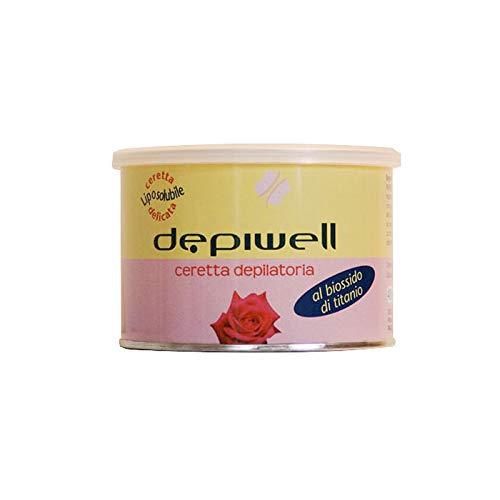 DEPIWELL Cera en tarro rosa depilatoria de bióxido de titan