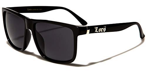 Locs 8LOC91055-BK Sonnenbrille Hypster Urban Poker Rapper, Mode für Damen und Herren