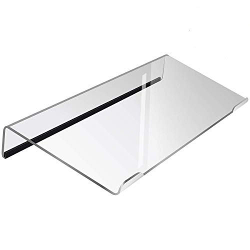 Refrze Computer Keyboard Stand PC Keyboard Stand,Titled Keyboard Stand,Clear Acrylic Keyboard Tray Holder for Easy Ergonomic Typing and Working at Home and Office Upgraded Version