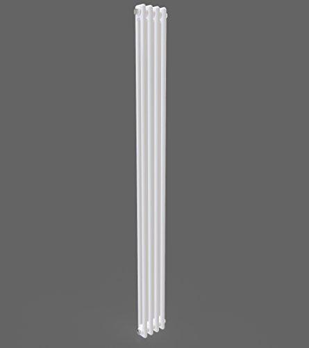 Simple Home | Epona Vertical Progettista Radiador 1800mm raddoppiare columna brillante blanca