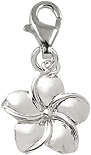 Rembrandt Charms Plumeria Flower Charm with Lobster Clasp