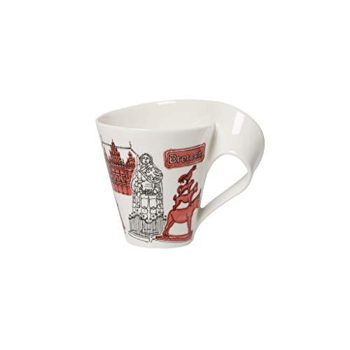 Villeroy & Boch Cities of the World Kaffeebecher, Premium Porzellan, rot