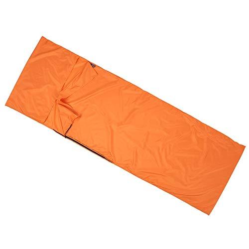 70 * 210CM im Freien Spielraum Camping Wandern Polyester-Rohseide gesunden Schlafsack Liner mit Pillowcase Tragbare Leichtbau (Color : Yellow)