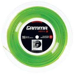 GAMMA Moto Lime 16–Cordaje de Tenis (1.29mm) 200m rollo, gzmor