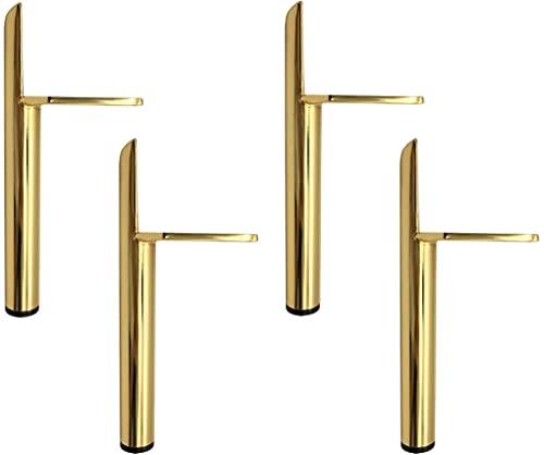 4 Stück Ersatz Möbelfüße Gold Metall, 6' / 15cm Tv Lowboard Möbelfüsse, DIY Möbel Füße Tischbeine...