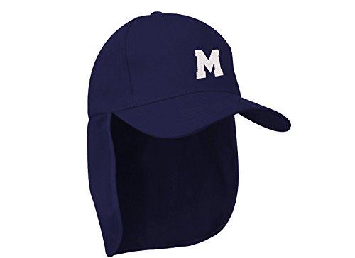 morefaz Junior-Legionär-Stil Jungen Mädchen Mütze Baseball Nackenschutz Sonnenschutz Cap Hut Kinder Kappe A-Z Letter MFAZ Ltd (M)