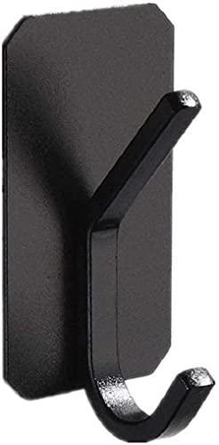 YUIOLIL Ganchos multifunción 4PCS Espacio Aluminio Negro Blanco Gancho Simple Gancho Doble Multifuncional Montado en la Pared Perforación Libre Fácil instalación