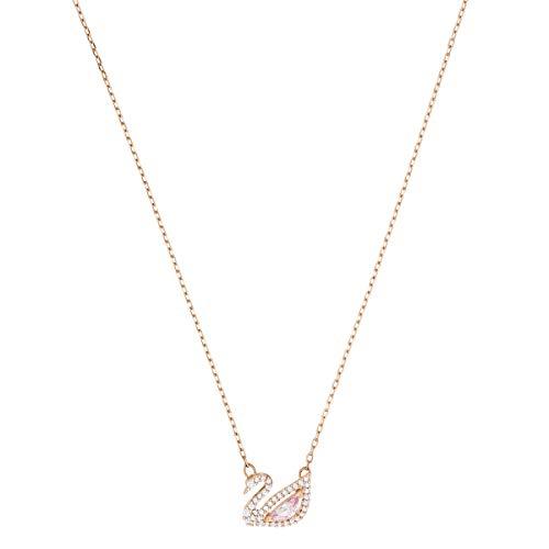 Swarovski Collana Dazzling Swan, multicolore, Placcato oro rosa