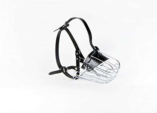 Champion New Metal Wire Basket Dog Muzzle for Amstaff & Pitbull,Bulterier