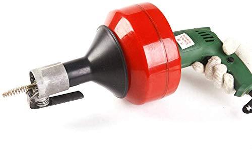 Rohrreinigungsmaschine Elektrisch Handspirale Rohrreinigungsgerät Abflussreinigungsmaschine mit Spirale 8mm x 8mm
