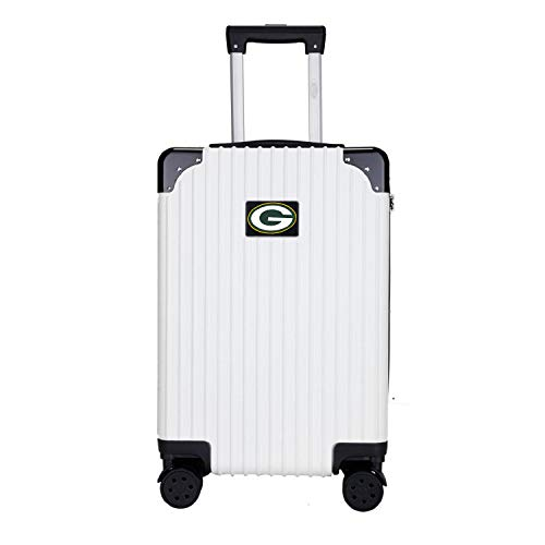Denco NFL Green Bay Packers Two-Tone Premium Carry-On Hardcase Luggage Spinner
