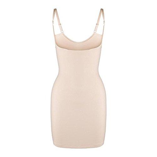 Eldar Bauchweg Unterwäsche Figurformendes Miederkleid Damen Shapewear Kleid Formkleid Formende Kleider Unterkleid (L, Beige)
