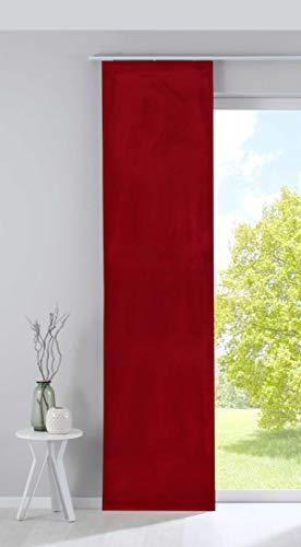 Gardinenbox Verdunkelung Flächenvorhang Schiebegardine »Milano« Samt Blickdicht Blackout Paneelwagen Beschwerungsstange Rot HxB 245x60 cm, 203571