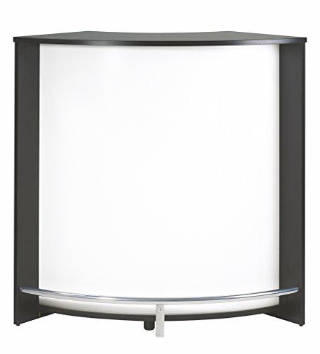 Simmob SNACK106NOB Bar, Comptoir de Cuisine, Meuble d'accueil Noir-Blanc, Panneaux de Particules de Bois mélaminé, 107 cm