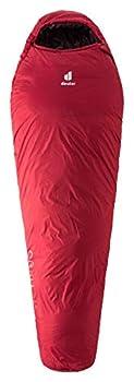 deuter Orbit-5°SL Sac de couchage en fibre synthétique, fermeture Éclair à droite, Femme, Rouge (canneberge/Mauve aubergine/cranberry-aubergine), Taille Unique
