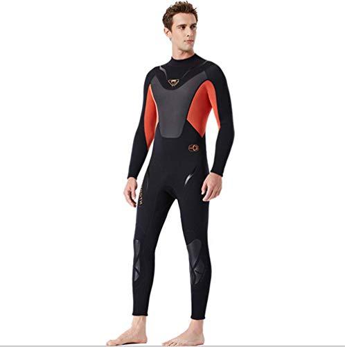 JJZXLQ Traje de Neopreno de Cuerpo Entero para Hombre, Neopreno Premium Traje de baño 3 mm Trajes de Snorkel Nadando/Submarinismo/Bucear/Surf,A,M