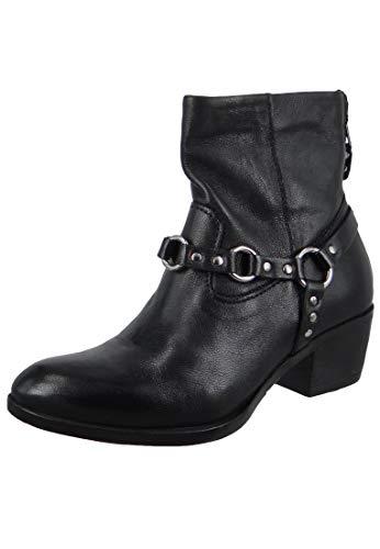 Mjus Damen Stiefelette Ankle Boot Dallas Dally Nero Schwarz 184232-0201-6002, Groesse:38 EU