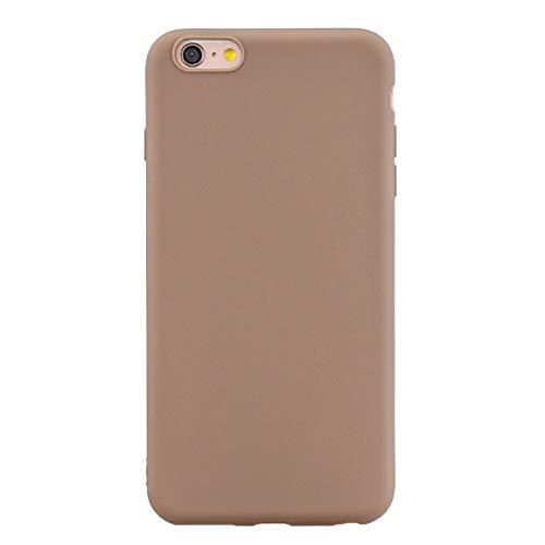 ZDCASE iPhone 6S Funda, A Prueba de choques TPU Suave Ultra Delgado Ligero Flexible Caucho Protectora Funda para iPhone 6 / 6S - Café