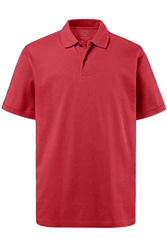 JP 1880 Herren, Poloshirt , Halbarm, Unifarben, Farbe: Rot (Rot 57), Gr. 2XL