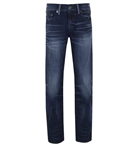 True Religion Geno - No Flap Staple Stitch - Entspannte, schmale Jeans