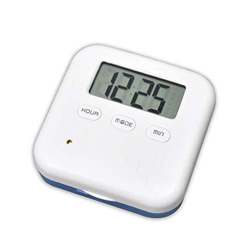 Forepin Pastillero Electrónico Píldora Organizador con 4 Compartimentos 5 recordatorios de Alarma Impermeable para Mayores y Niños