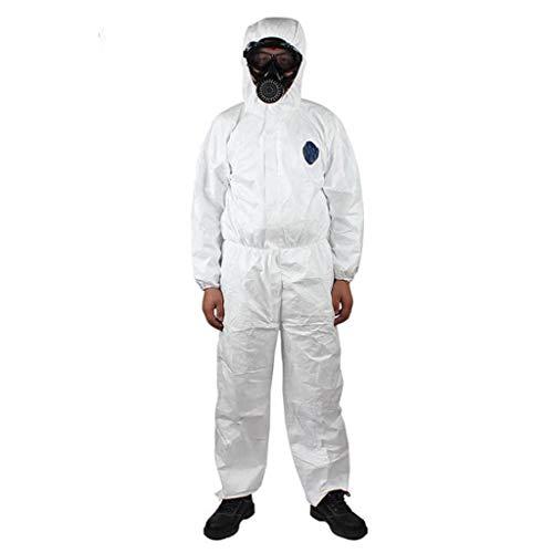 Shulky HULKY Unisex Isolation Overalls mit Kapuze Wiederverwendung Schutzanzug Suit Workwear,Isolationsanzug Arbeitsanzug f/ür Medizin