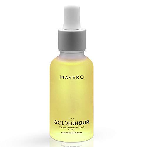 *NEU* MAVERO GOLDENHOUR - Vitamin C Serum mit Hyaluronsäure, Kiwi & Ananas Extrakte, Gesichtsserum, Gesichtspflege Männer & Frauen, Hyaluron Serum Gesicht