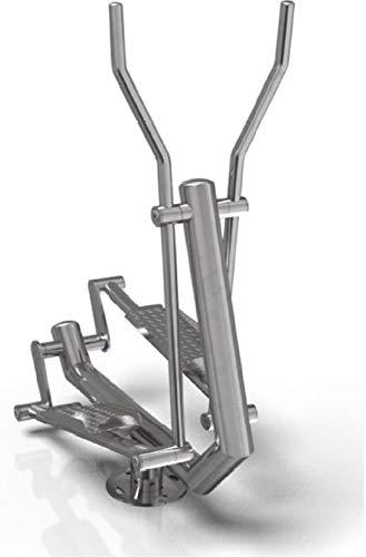TOLYMP Crosstrainer van V2A-roestvrij staal voor gebruik buitenshuis, voor meergeneraties park, speelplaats, bedrijfsfitness