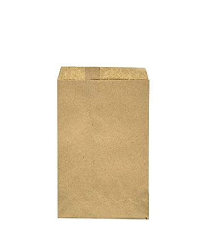 100 Pack Brown Kraft Paper Bags, 6' x 9' Inches, Gift Card, Gift Candy, Cookies, Doughnut, Crafts, Party Favor, Sandwich, Jewelry Merchandise- by RJ Displays