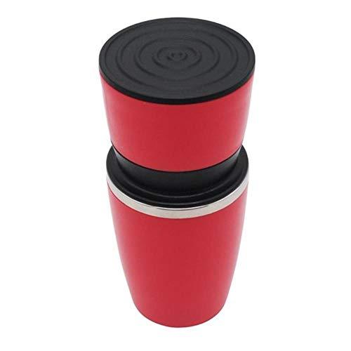 Handmatige koffieboonmolens MakerHanddruk Espressomachine KoffiepersflesPot Burr Caffee MakerFilterbeker voor buiten reizen, rood, 18.5x8.5x8.5cm