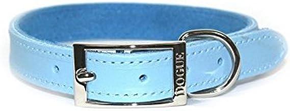 Dogue Plain Jane Leather Dog Collar, Blue